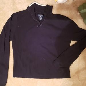 Boys Nautica black sweater size xl fits like a L